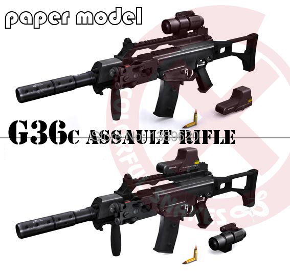 120cm 1:1 Awp Sniper Rifle 3d Paper Model Weapon Gun Puzzle Hand-made Paper Toy Toys & Hobbies