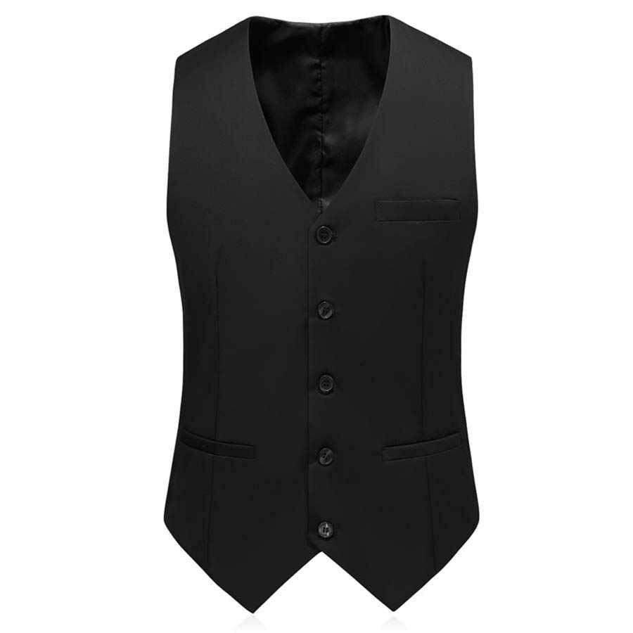 男性無地スーツ 3 ピーススーツ 2 ボタンブレザージャケットパンツベスト白青黒 5XL 秋冬スリムフィットウェディング T161