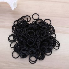 200 Pcs/Pack Holder Black Color Rubber Bands High Quality School Office Home Supplies Band Stationery