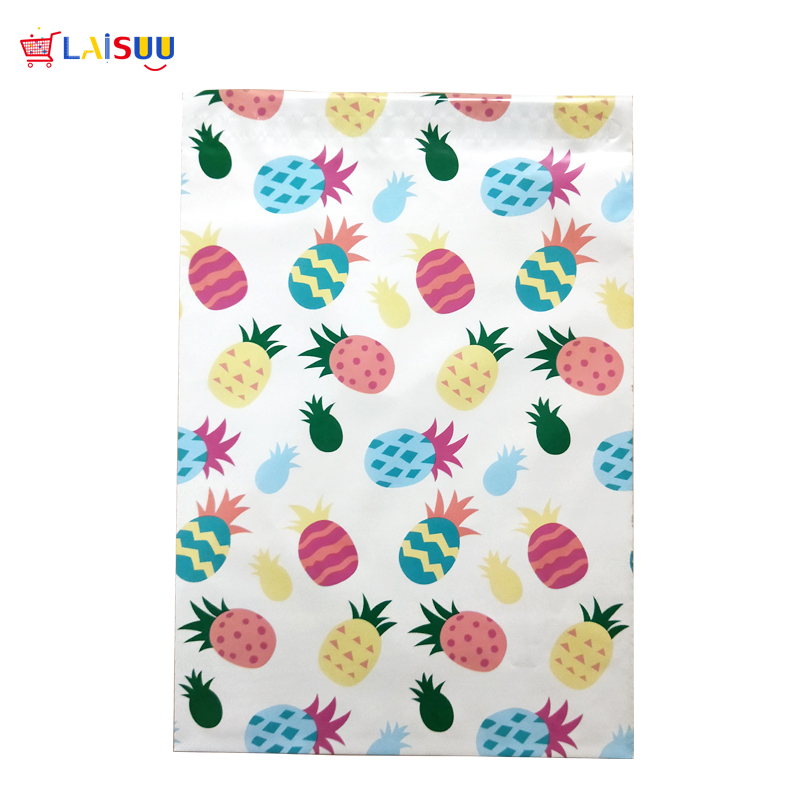 100pcs 26x33cm 10x13 inch Cute fruit pineapple pattern Poly Mailers Self Seal Plastic Envelope Bags / Jiffy mailing bags