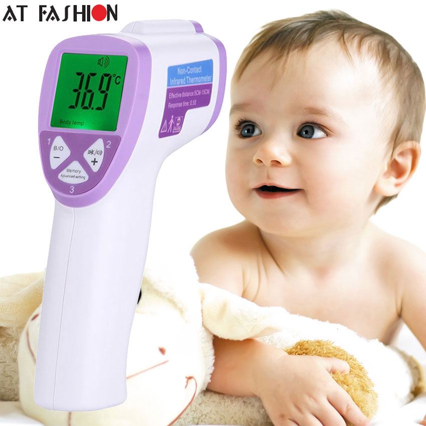 High Quality LCD Digital Infrared Thermometer Non-contact IR Thermometer Gun  Forehead Body Surface Temperature Measurement  цены