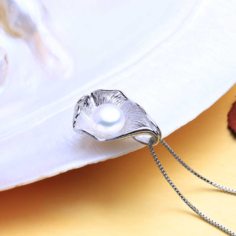 FENASY natural Pearl jewelry sets shell shape Pearl pendant Necklace 925 silver classic stud Earrings for women Fashion Brand