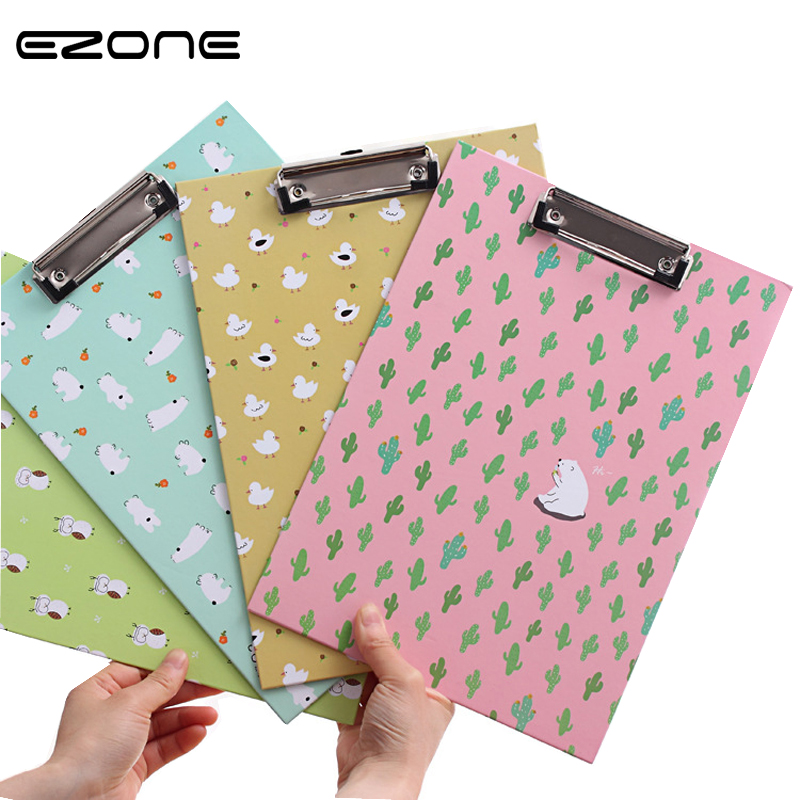 Ezone Korea Creative Stationery Classic Dot Floral A4 Documents Folder Kawaii Lovely A4 File Folder For School Office Supplies