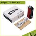 100% Original Hcigar VT75 Nano Box Mod 75W Temperature Control Vape Mod fit for Evolv DNA75 Chip Electronic cigarette