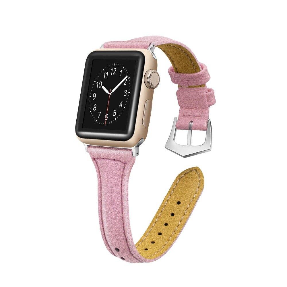 Correa de cuero genuino CRESTED para Apple Watch 3 2 1 42mm 38mm iwatch band reemplazo pulsera correa
