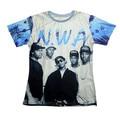 New Women Men 3D t shirt NWA Niggaz straight outta Compton gangsta rap crewneck tees shirts summer punk rock tee camisetas tops