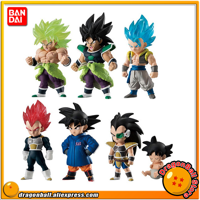 Us 48 62 37 Off Dragon Ball Super Broly Original Bandai Adverge 09 Collection Figure Full Set Of 6 Pcs Broly Son Goku Vegeta Gogeta Raditz In