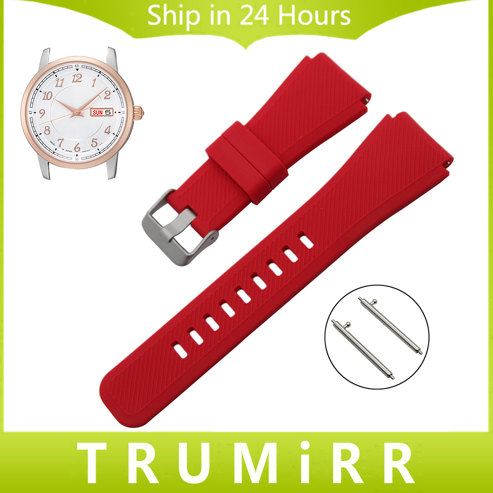 21mm 22mm Silicone Rubber Watchband Quick Release Strap for Seiko Men Women Watch Band Wrist Belt Bracelet Black Brown Blue Red