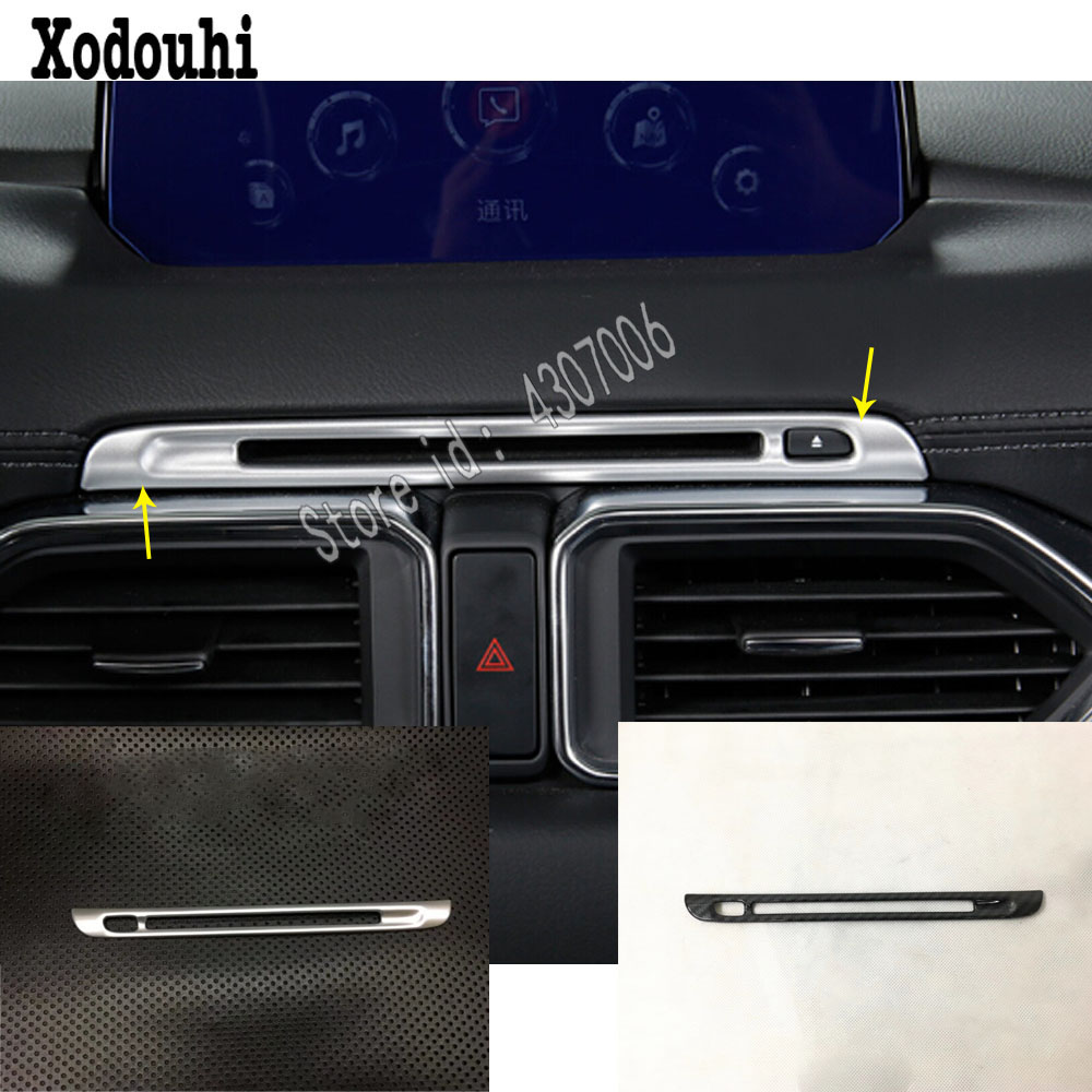 For <font><b>Mazda</b></font> CX-5 <font><b>CX5</b></font> 2nd Gen 2017 2018 2019 Middle Console Temperature Air-condition Volume <font><b>Navigation</b></font> Switch Outlet Vent Hood image