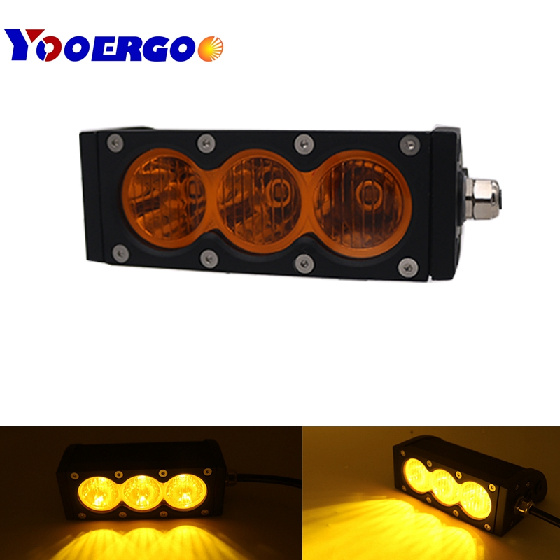 30w 6inch Single Row Led Light Bar with Cree 10w High Light Output White Amber Yellow