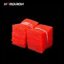 Двухслойный полиэтиленовый пакет из пузырчатой пленки красного