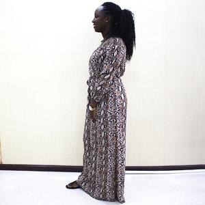 Image 3 - Mode Dashiki Kleid Taille Off Schulter Casual African Dashiki Frauen Kleid