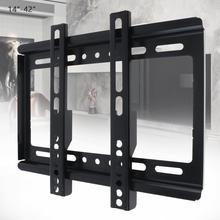 Uniwersalny cienkie 25KG 14   42 Cal uchwyt ścienny na TV telewizor z płaskim ekranem rama z gradienterem do Monitor LCD LED płaskie patelni