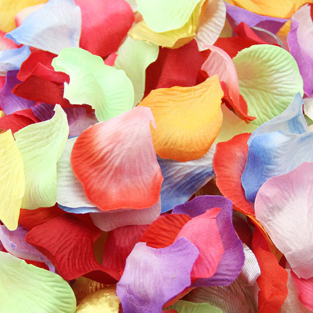 Artificial silk rose petals wedding decoration artificial flower artificial silk rose petals wedding decoration artificial flower petals wedding party decoration silver gold r mightylinksfo