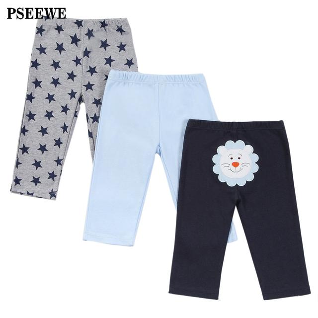 3 unids/lote Bebé Pantalones pantalones de Algodón Otoño niño Encantador bebé Recién Nacido pantalones Ropa de Bebé 0-12 Meses Bebé pantalones de la muchacha