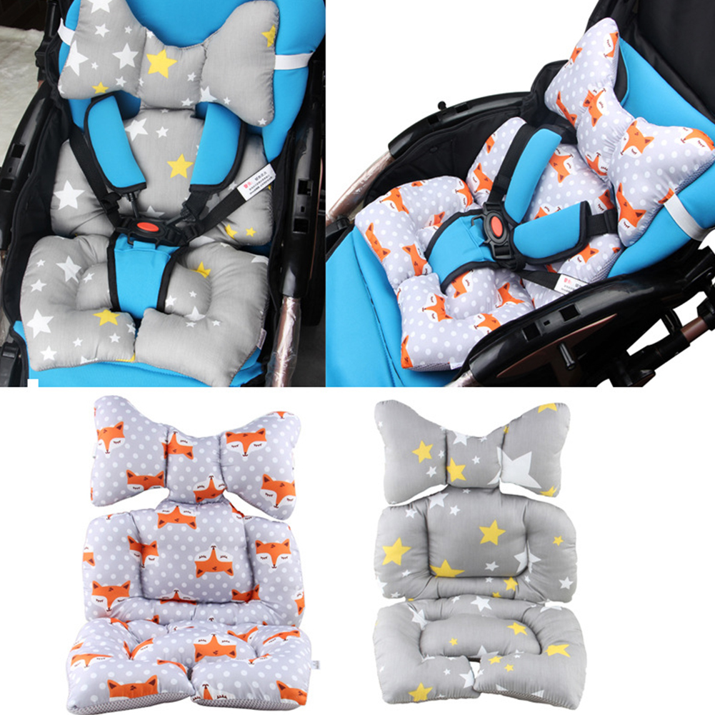 Pad Thick Stroller Warm Seat Cushion Cotton Car Baby Cartoon Animal Chair Pillow Case Mattress