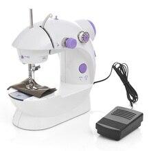 Электрическая мини-швейная машина домашняя ручная машина для шитья скоростная лампа с регулировкой ручная швейная машина maquina de costura coser