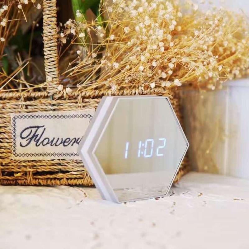 百思买 ) }}New Arrival Creative Multifunctional Digital Alarm Clock LED Mirror/ Night Light/ Calendar/ Mercury