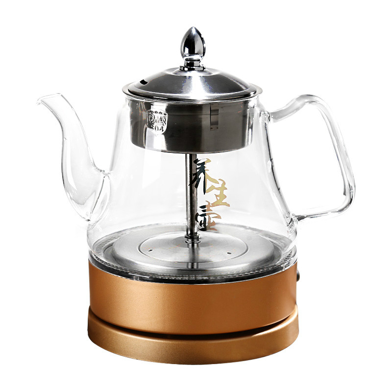 Electric kettle The glass brewed tea vessel insulated fully automatic steaming teapot with electric hot boiling black pot fully automatic brewed tea pot boiling black pu er electric kettle water glass