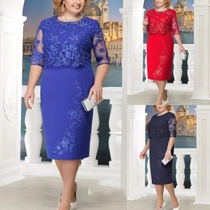 Image 4 - Rimiut 5XL 6XL Women Summer Autumn Big Size Dress Elegant Lace Dress Female Large Size Evening Party Dresses vestido Plus size