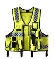 Новый Гонконг Стиль многофункциональный Полиции Светоотражающие Предупреждение Одежда Яркое Серебро Отражающий Жилет
