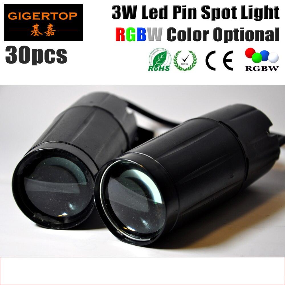Free shipping 30pcs/lot 3W Mini DMX LED Pinspot Light RGBW color to choose Taiwan LED Mini Rain Light For crystal dj ball led светильник bao workers in taiwan led