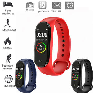 New Hgh Quality New label M4 Intelligent  watch Heart Rate Monitor For Men And Women Monitoring Sports Tracker Health Bracelet