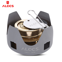 ALOCS Tragbare Mini Outdoor-kocher Camping Alkohol Brenner Herd Geist-brenner Spiritus-ofen für Outdoor-Backpacking Picknick Wandern