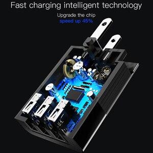 Image 4 - Baseus 3 Port USB şarj 3 in 1 üçlü ab abd İngiltere tak 2.4A seyahat duvar şarj adaptörü cep telefonu şarj için iPhone X Samsung