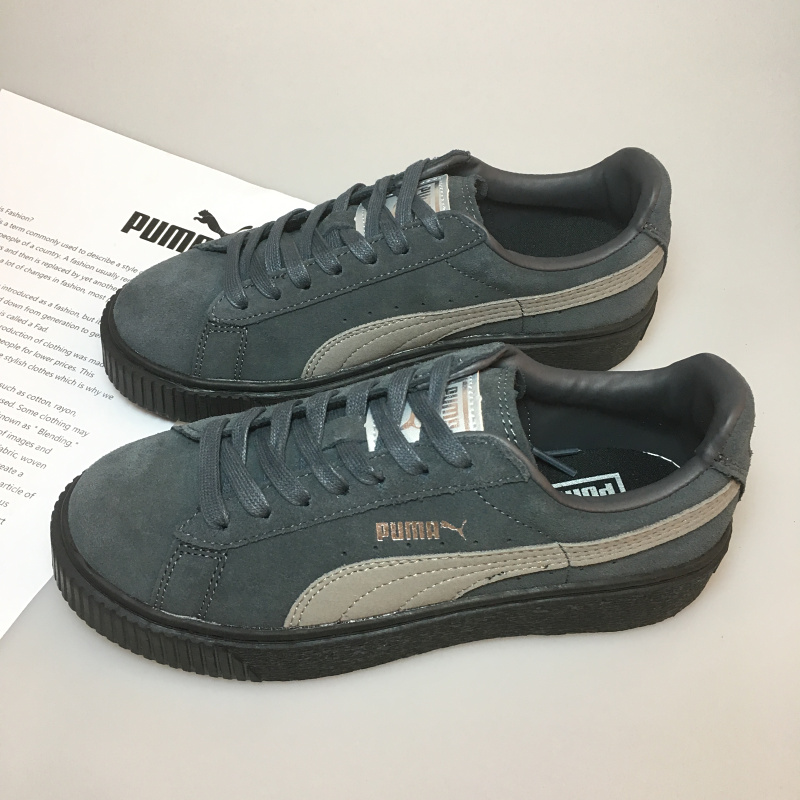 Original PUMA x FENTY Suede Cleated Creeper Women s Second Generation  Rihanna Classic Basket Suede Tone Simple Badmin Size 36 39-in Badminton  Shoes from ... 467c2fc05