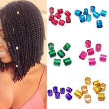 Hot 10 PCS/Pack Floral Women Hair Braid Rings 10mm Dreadlock Beads Adjustable Hollow Extension Clips Aluminium