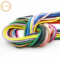 5mm 10yards/lot Diy accessories twisted round 100% cotton cord decoration rope Beige cotton rope hand woven drawstring