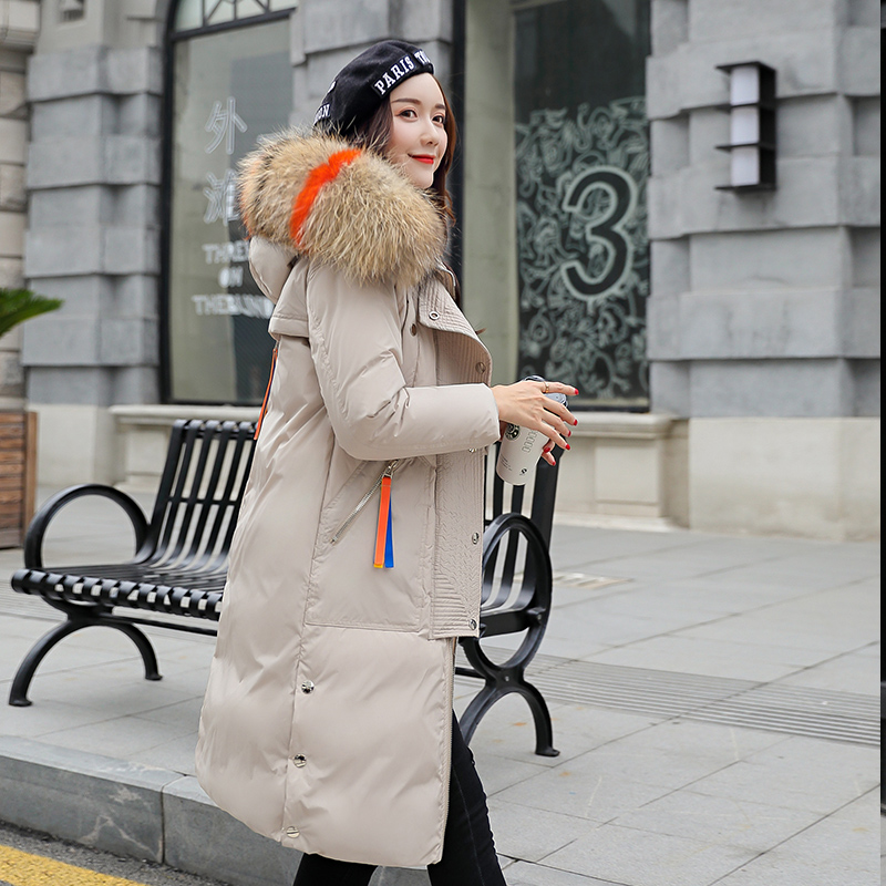 Winter Jacket Women New 2018 Coats Artificial raccoon hair collar Female   Parka   black Thick Cotton Padded Lining Ladies M-3XXXL