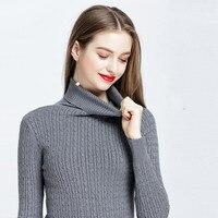 2018 Full Regular Cotton Turtleneck Rushed Hot Sale Blusas De Inverno Feminina Sweater Woman Pattern Autumn And Sleeve Thick