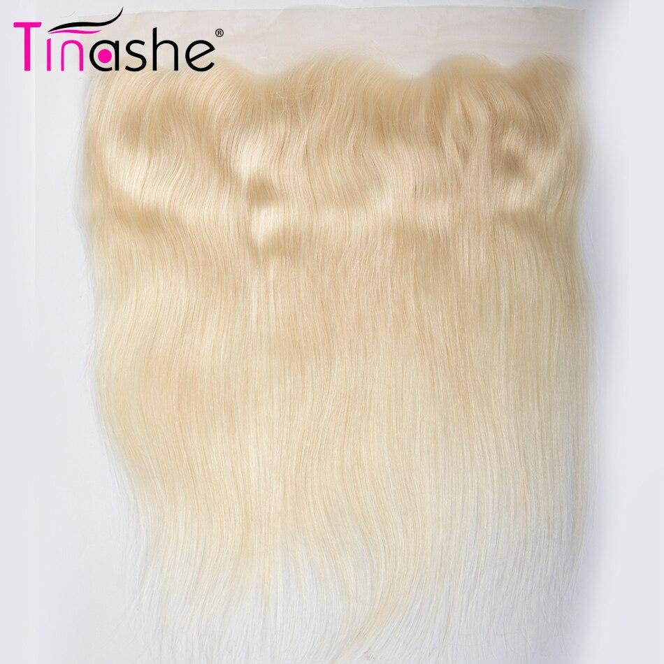 Tinashe волос Бразильский прямые волосы фронтальные человеческих волос 13x4 уха до уха Кружева Фронтальная застежка предложения #613 полная блонд...