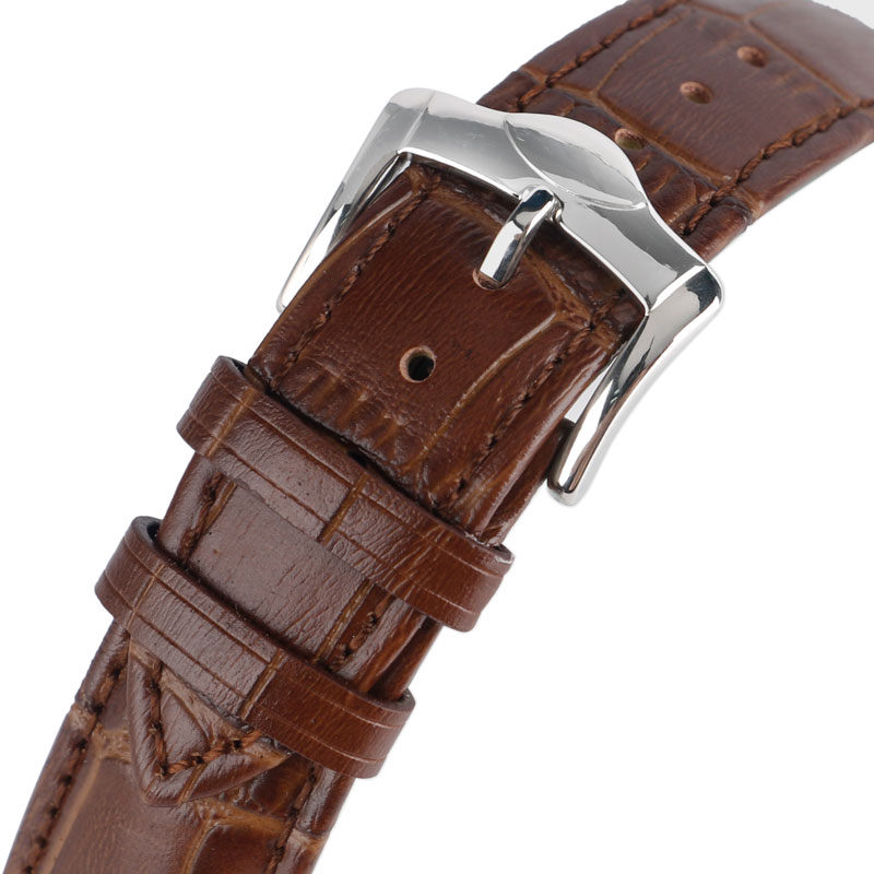 Brown Genuine Leather Strap for Watch 20mm 22mm Bracelet Fashion Replacement Soft Business Watchband + 2 Spring Bars genuine leather watchband 20mm black brown replacement leather wristband for garmin vivomove apac strap