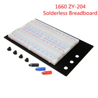 Free Shipping Solderless Breadboard Protoboard 4 Bus Test Circuit Board Tie Point 1660 ZY 204