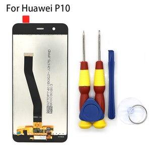 Image 2 - Новый оригинальный сенсорный экран, ЖК дисплей, ЖК экран для Huawei P10, сменные детали + инструмент для разборки + клей 3M
