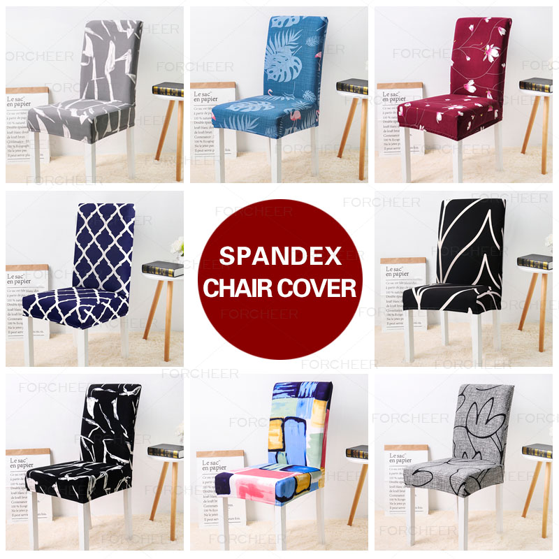 Blomsterutskrift Avtakbar stol Dekk Strekk Elastisk Slipcovers Restaurant For Bryllup Bankett Folding Hotel Chair Covering