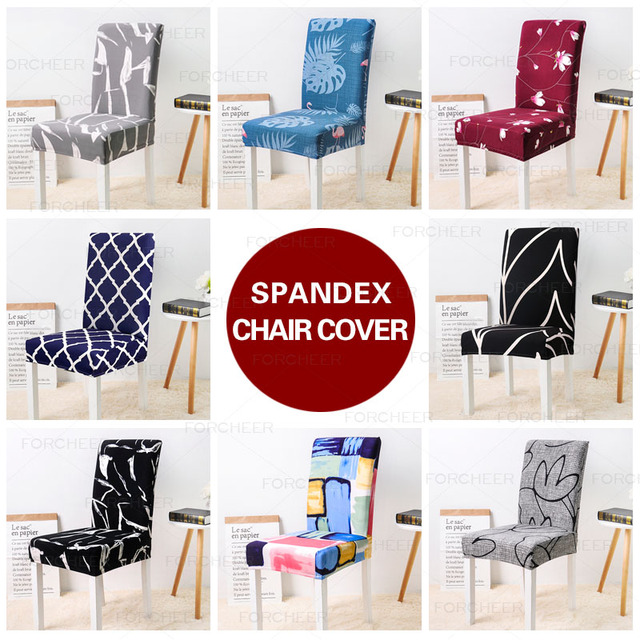 Floral Printed Removable Chair Cover