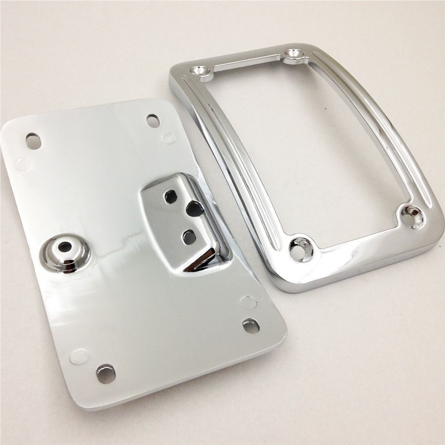 Aftermarket Motorcycle License Plate Mounting frame Kits For Harley Sof tail Deluxe FLSTN 2005-2014 Chrome motorcycle tail tidy fender eliminator registration license plate holder bracket led light for ducati panigale 899 free shipping