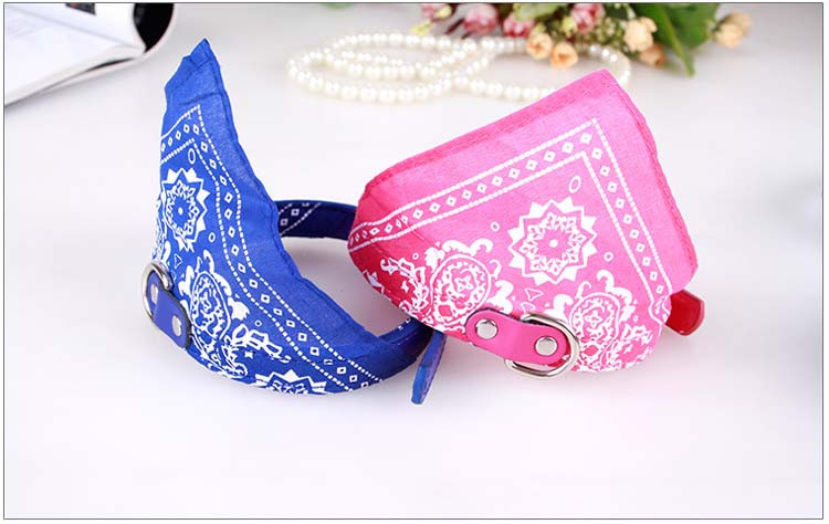 Cute Small Dog Collars Puppy Pet Slobber Towel Puppy Dogs Cats Scarf Adjustable Designer Dog Collar Black Pink Red Blue Purple Wholesale2