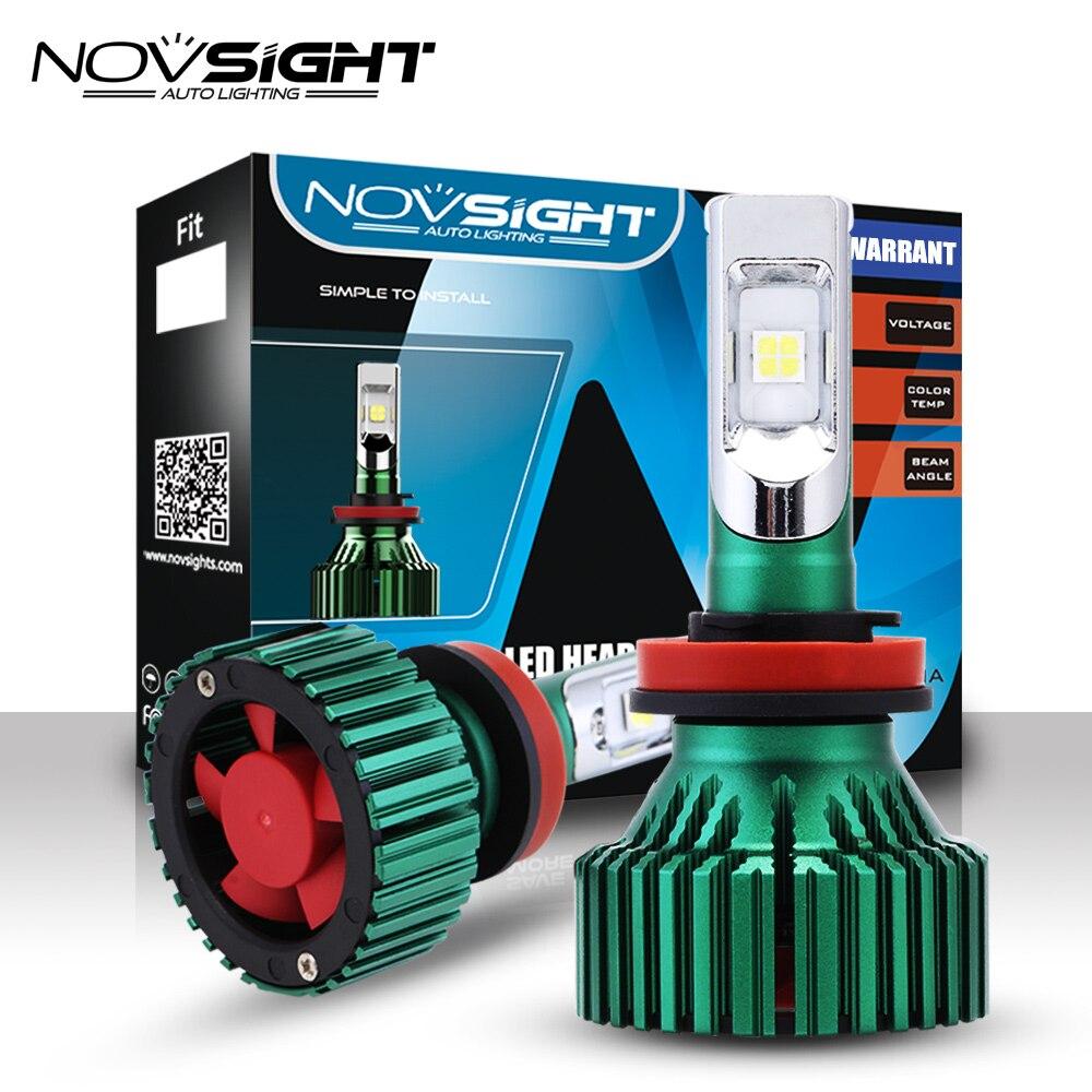 NOVSIGHT H11 Car LED Headlights H8 H9 60W 16000LM Driving Fog Car Lights Bulbs Single Beam