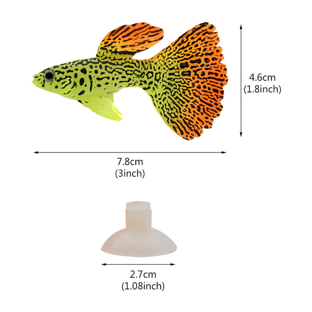 medium resolution of plastic swimming faux fake gold fish aquarium fish tank decor orname gift simulation small goldfish high quality in decorations from home garden on