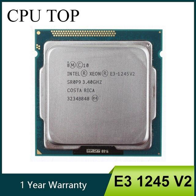 Processeur processeur Quad Core Intel Xeon E3 1245 V2 3.4GHz LGA 1155 8 mo SR0P9