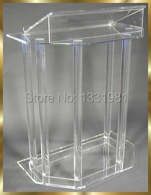 Free Shipping Custom Acrylic Podium/Acrylic Lectern/Plexiglass Pulpit Modern Acrylic Podium Pulpit Lectern Plexiglass