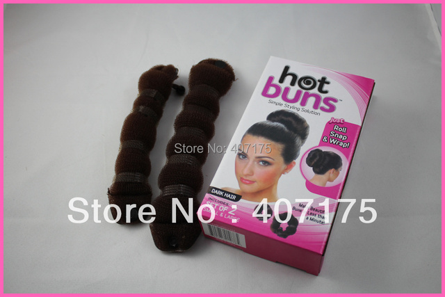1pack HOT BUNS hair accessories TWO sizes TWO colors TWO pieces u choose
