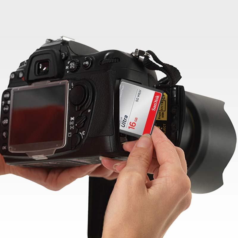 SanDisk Ultra Compact Flash Card 16gb CF Memory Card Up to 50MBs 4K HD for Hasselblad Olympus Sigma Leica Fuji Canon DSLR Camera