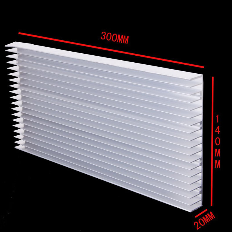 1 piece 300x 140x 20MM 8 x 3W / 20 x <font><b>1W</b></font> <font><b>LED</b></font> <font><b>Heatsink</b></font> Aluminum Heat Sink Radiator for IC Electronic Chipset heat dissipation image