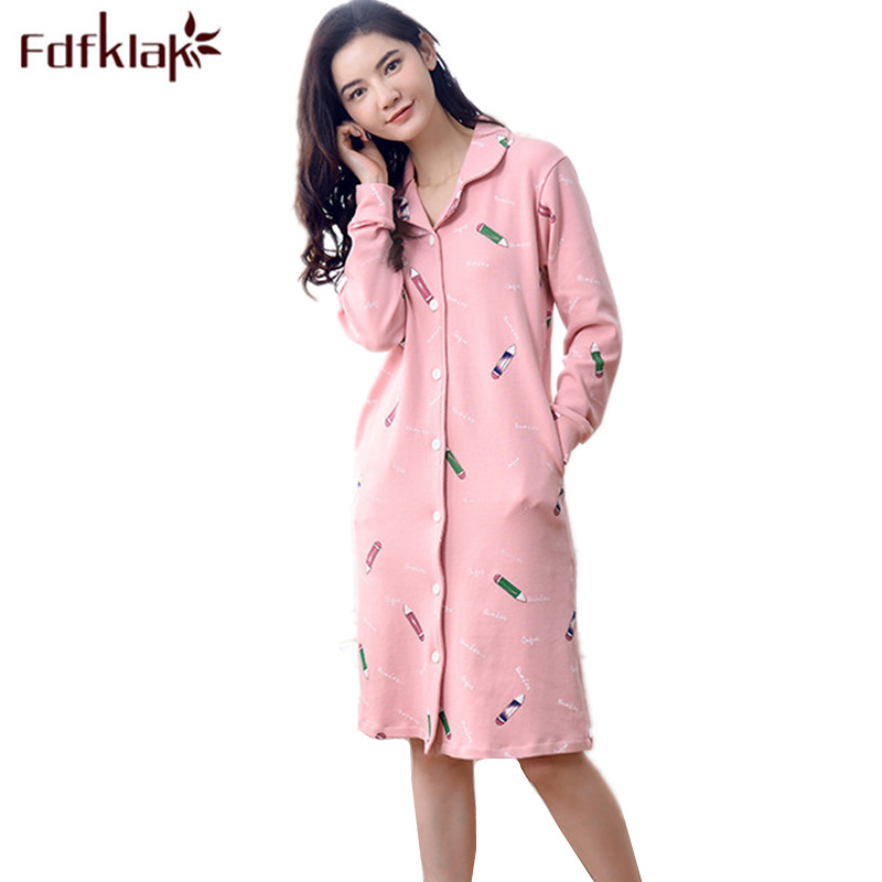 Fdfklak Nighties For Women Pink Nightgowns Sexy Dressing Gowns For Women Lounge Dress Night Lingerie Spring Long Nightgown Q702